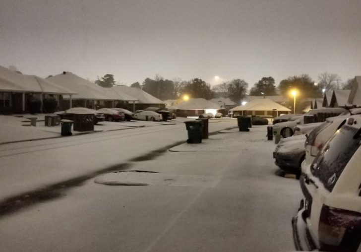 Shreveport, Louisiana Sees Biggest Snow in Several Years Tuesday