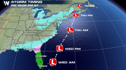 Blizzard Conditions Likely Along the East Coast