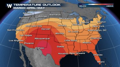 NOAA Spring Outlook - Warmer Than Normal Across Most of the Nation
