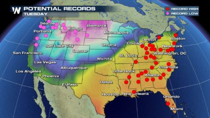 Record Spring-Like Warmth Follows Winter Storm