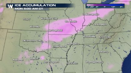 Freezing Rain and Drizzle Likely in Southern/Central U.S.