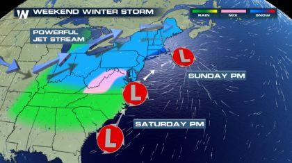 Wintry Weekend: Increasing Chances for Northeast Snowfall