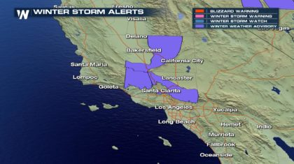 Winter Weather Concern for Southern California