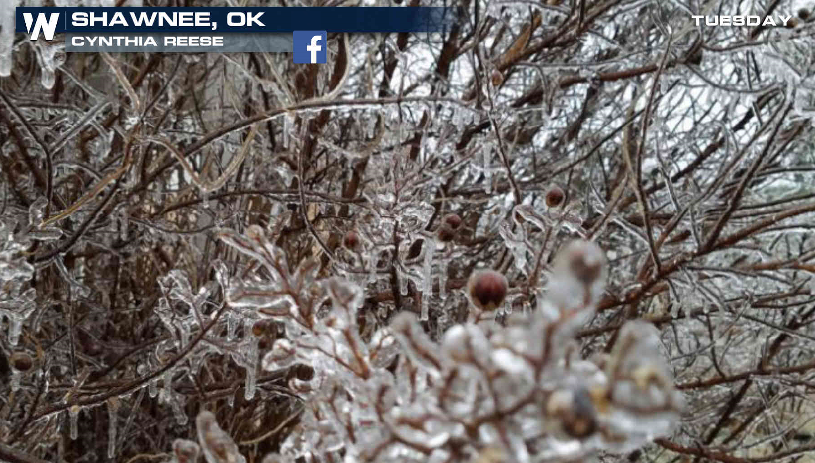 Icy Weather in the Central and Southern Plains