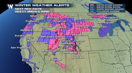 Snow Blankets the West
