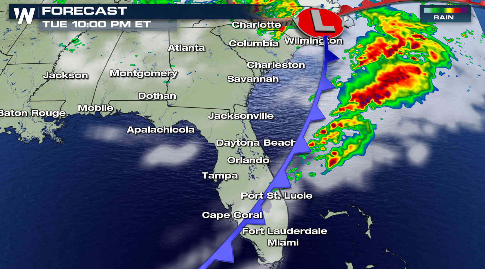 Severe Weather Threat From Florida to South Carolina Today