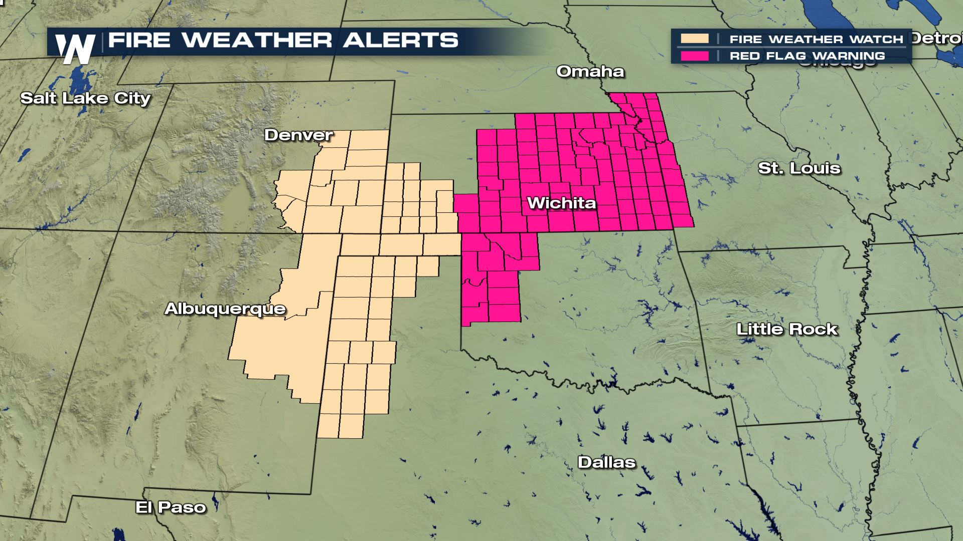 Fire Weather Risk for the Southern Plains Today - WeatherNation