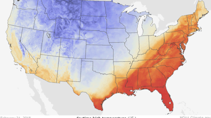 A Look at the Record Setting Temperatures of Last Month in the East