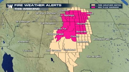Weekend Fire Weather Risk for the Four Corners and Southern Plains