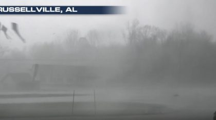 VIDEO: Storm Rips Through Russellville, Alabama