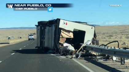 Powerful Wind Gusts Blow Over the Western Plains