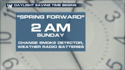 It's That Time... Literally.  Daylight Saving Time Begins Sunday