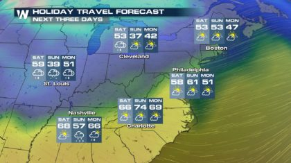 Your Weekend Travel Forecast