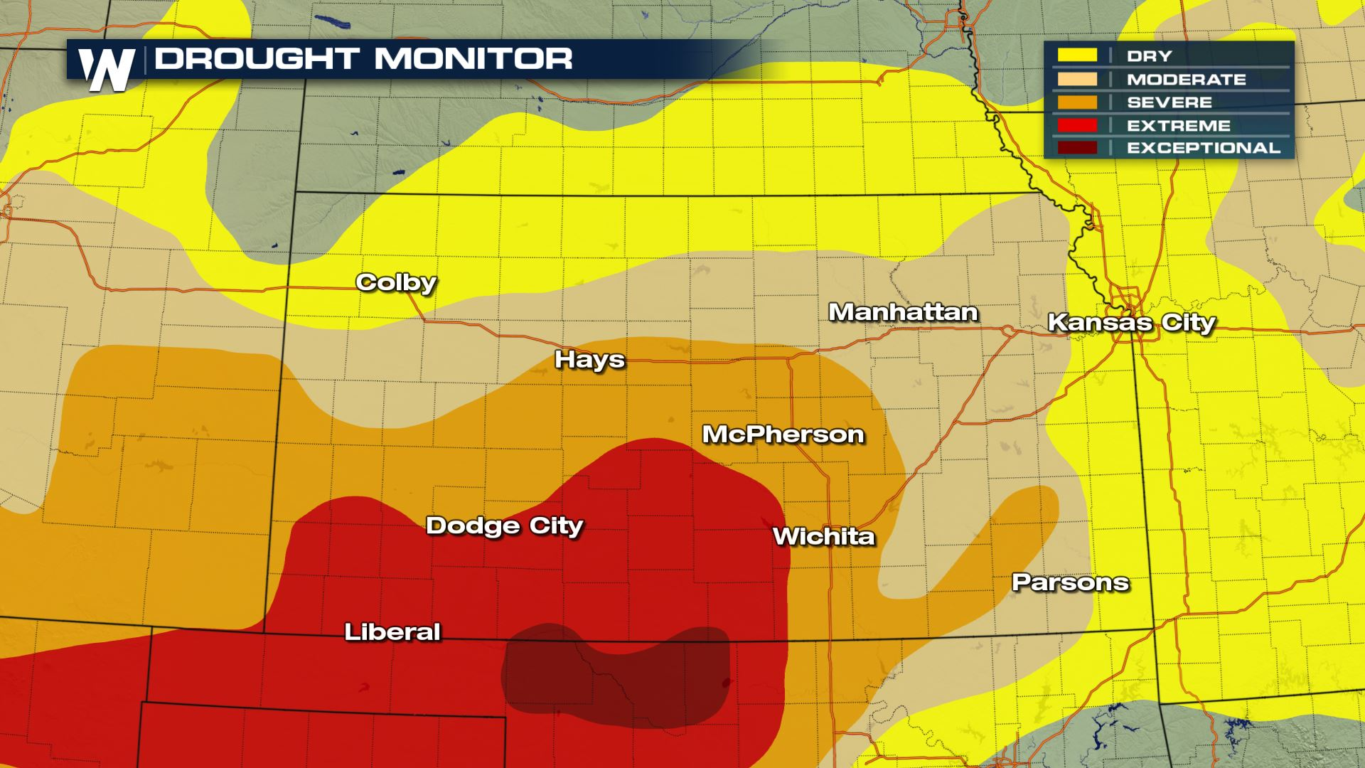 Kansas Governor Declares Drought Emergency, Warning and Watches ...