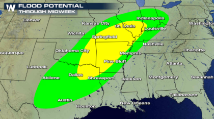 Flooding Concerns From the Plains to the Ohio Valley