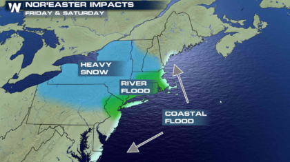 Coastal Storm to Bring Heavy Snow, Rain and Wind to the Northeast