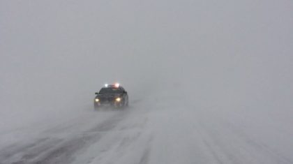 South Dakota Highway Shut Down Due to Blizzard Conditions