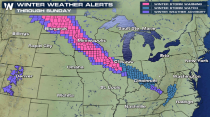 Weekend Starts with Snow from the Plains to the Mid Atlantic