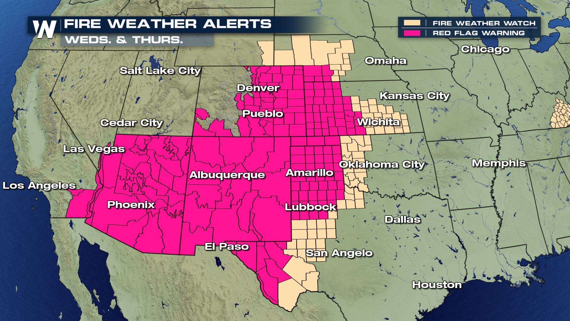 red flag warning map