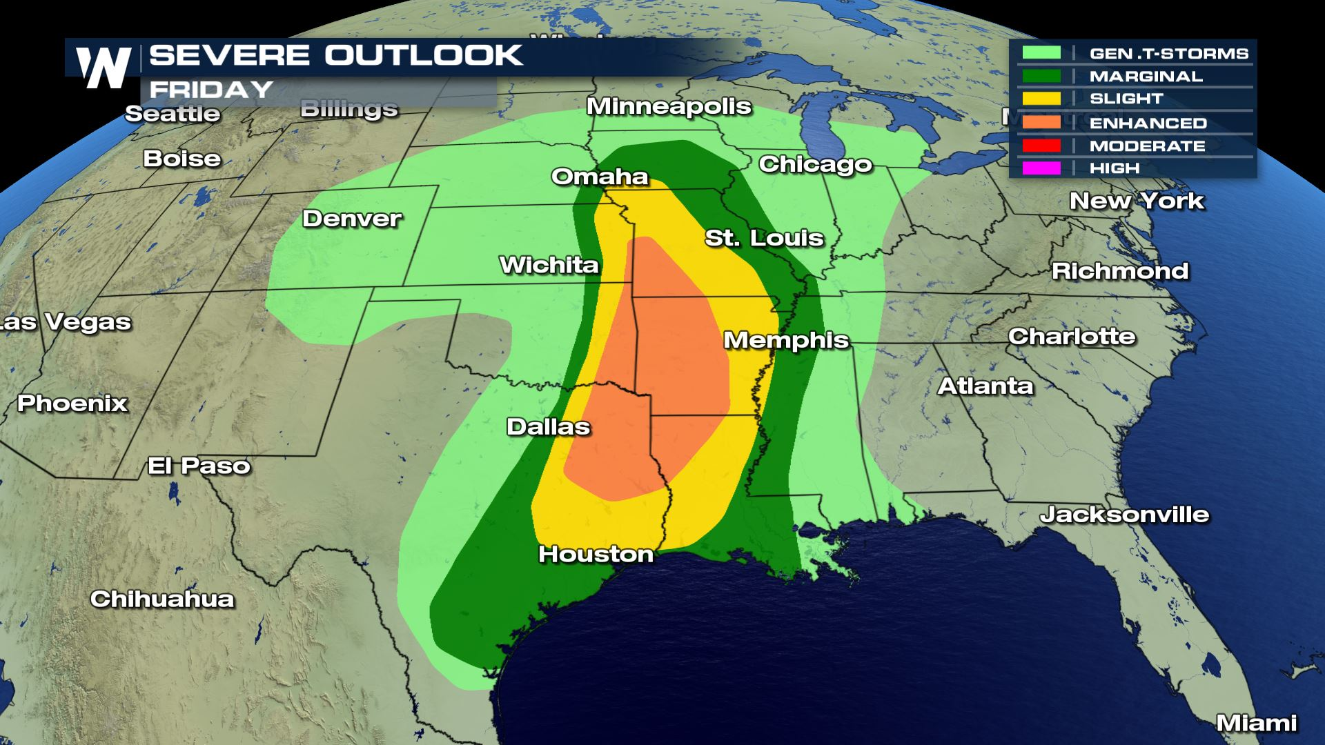 Severe Weather Update for Friday - WeatherNation