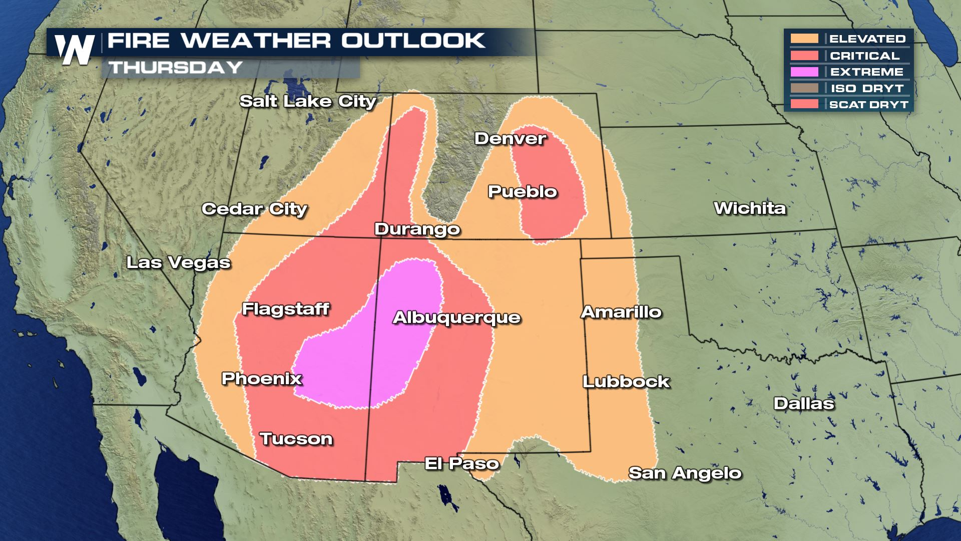 Fire Weather Concern Shifts Thursday