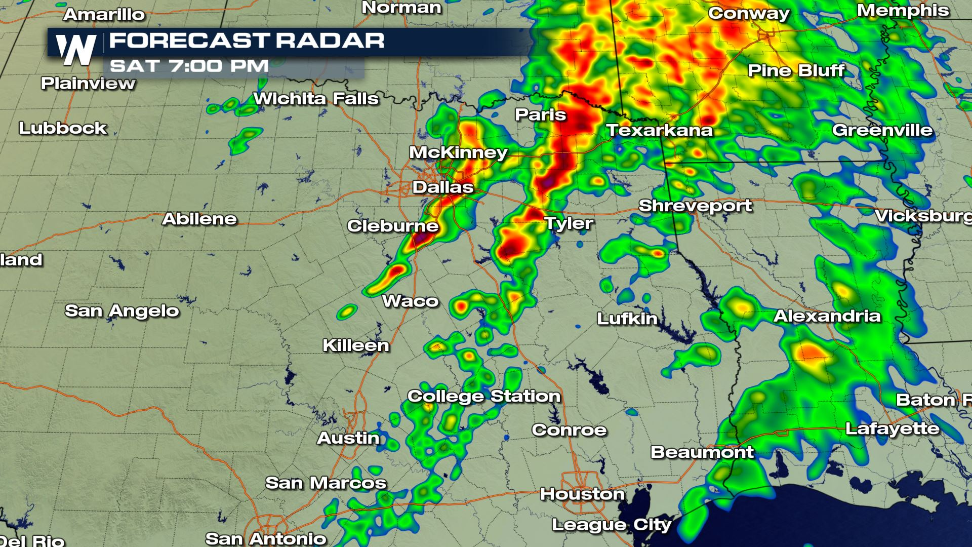 Austin Weather Map Radar.Saturday Severe Weather Update Weathernation