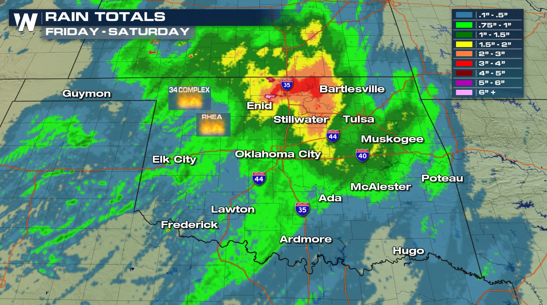 Rain at the Right Time for Oklahoma Wildfires
