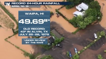 Hawaii May Have New National Rainfall Record