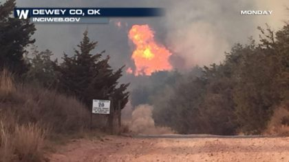 A Closer Look at the Wildfires in Oklahoma from this Month