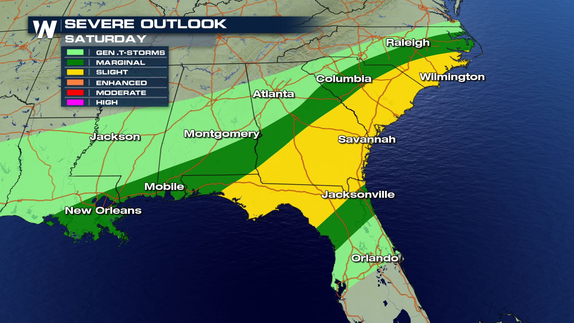 severe weather threat continues on saturday weathernation