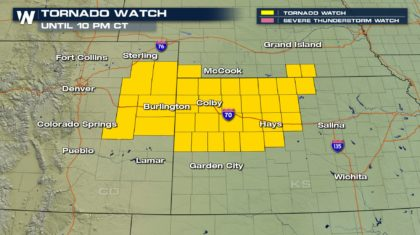 Tornado Watch Issued for the Western Plains