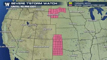 ALERTS: Severe Thunderstorm Watches Issued for Today