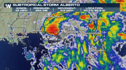 Alberto Officially Makes Landfall in Florida