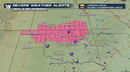 Overnight Storms: A Severe Thunderstorm Watch is Issued
