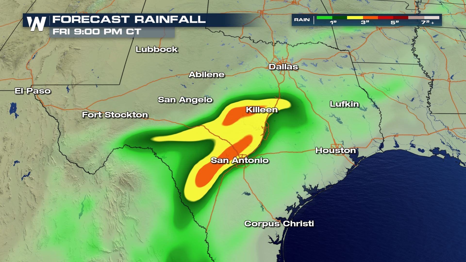 Heavy Rain In The Forecast Today for Texas - WeatherNation