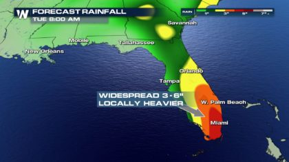 Tropical Downpours Continue in Southeast; Possible Tropical Troubles