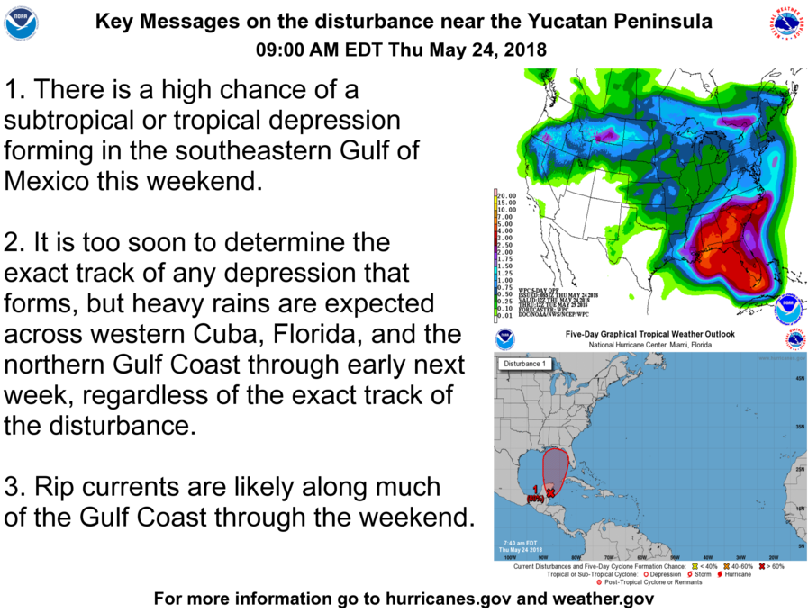 Monitoring Tropical Development in the Gulf for the Weekend