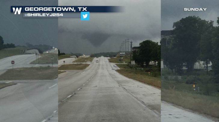 Confirmed Tornado In Central Texas Sunday Weathernation