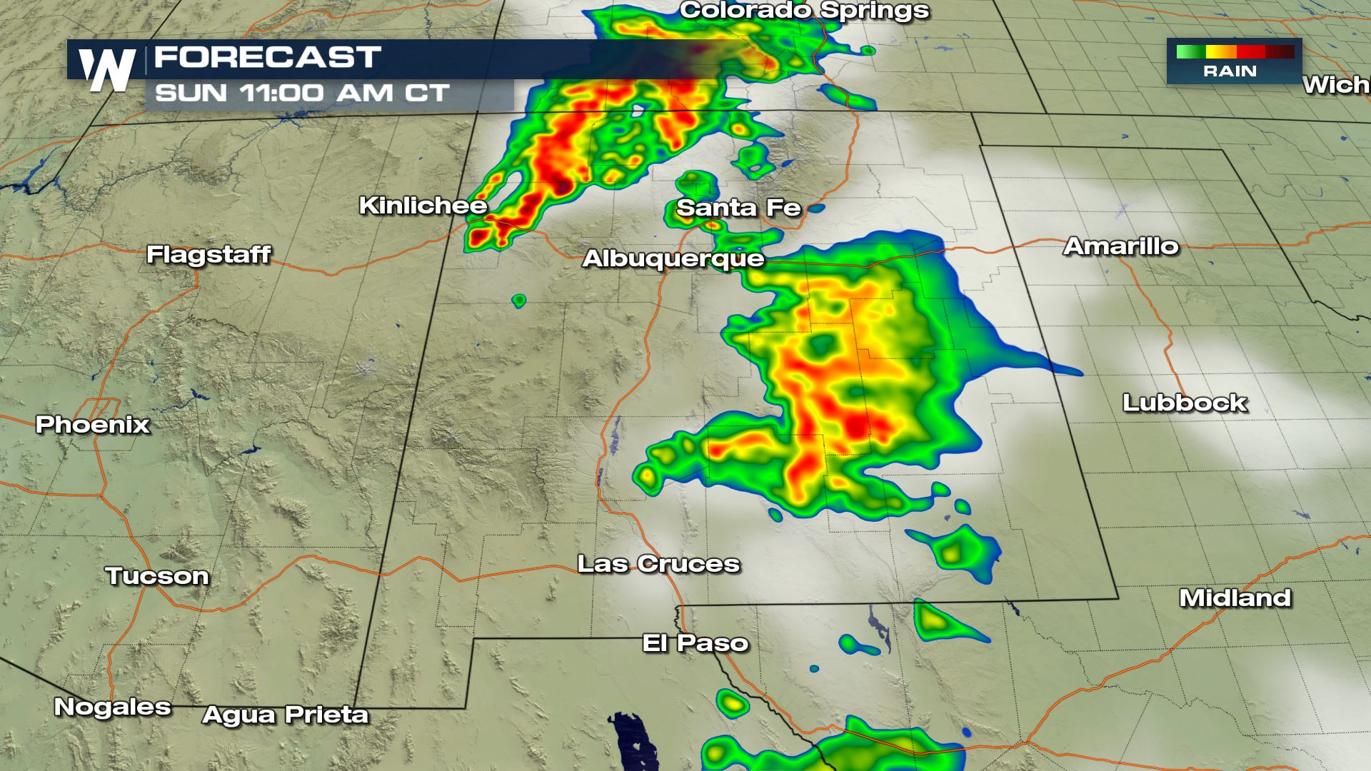 Severe Weather Chances For New Mexico Sunday Weathernation