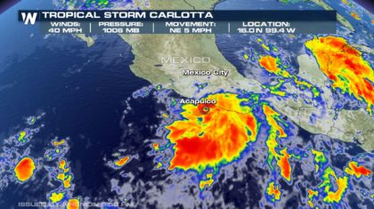 Tropical Storm Carlotta Forms In Eastern Pacific