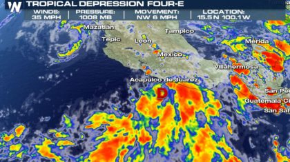 Another Tropical Depression Develops in the Eastern Pacific