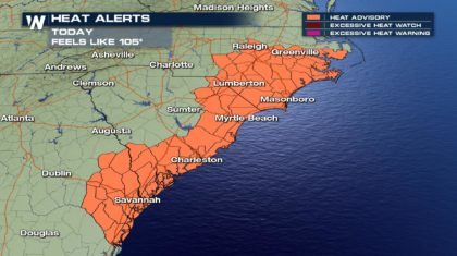 Heat Alerts in Place for Parts of the Southeast