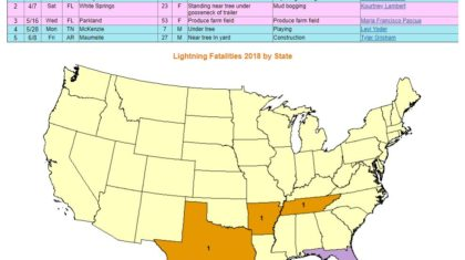 Lightning Strikes Map Florida.Lightning Strike Kills 1 In Florida Weathernation