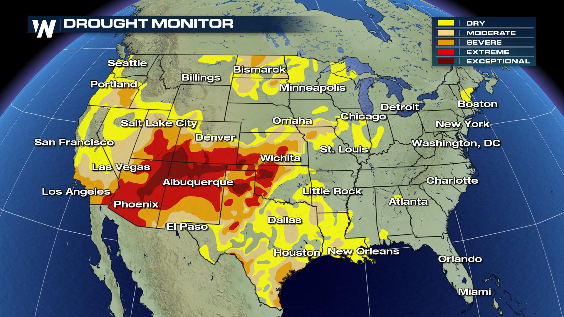 A Look At The Latest Us Drought Monitor Weathernation - Drought-map-us