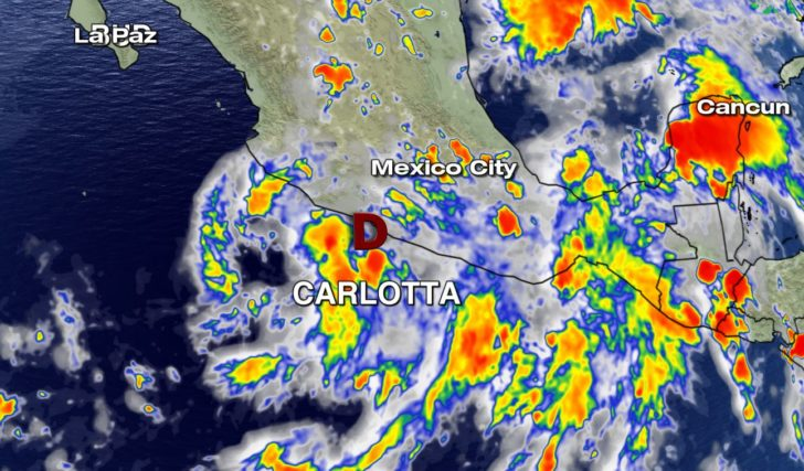 Carlotta Weakens to Depression; Rain Main Threat for Mexico