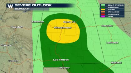 Severe Weather Chances for New Mexico Sunday