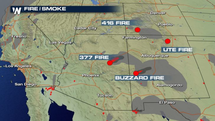 Fires Continue Across The Four Corners Weathernation