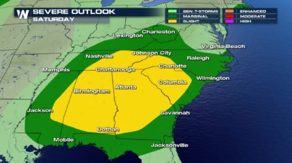 Severe Chances for the Southeast on Saturday