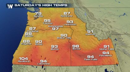 Dangerous Heat for the Northwest Thursday and Friday