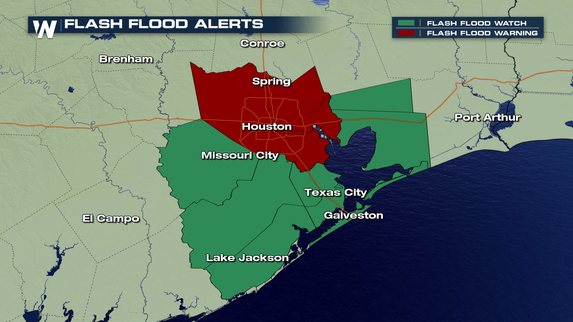 Map Of South East Texas.Happening Now Heavy Rain Flooding Threatening Houston Southeast